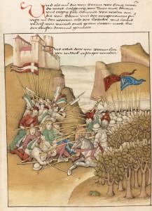 Die Habsburger wehren sich vor Schloss Wildegg