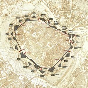 Stadtbefestigungen Wiens , Bild 1809
